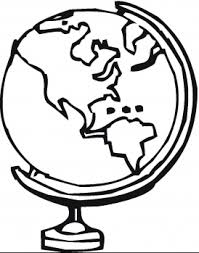 Globe Coloring Pages Clipart Panda Free Clipart Images