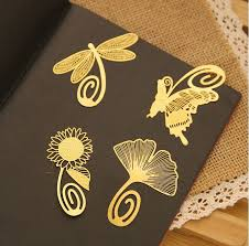 1pcs cute kawaii gold bookmark creative metal bookmarks for books macker paper creative s stationery in bookmark from office supplies