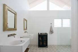 sydney wall mounted handrail bathroom contemporary with vaulted ceilings patterned beach towels sinks