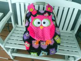 canopy baby car seat girls fitted fleece owl car seat canopy with k baby car seat