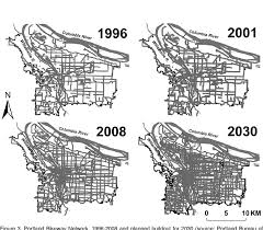 number of cars and vehicle miles traveled in portland 1990 2008 source