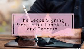 the lease signing process for landlords