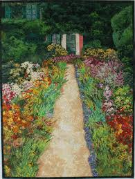 Quilt Inspiration: Monet's Garden: Impressionism and Quilting & Lenore Crawford has used precise fabric painting, so that the Impressionist  tradition of ... Adamdwight.com