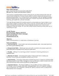 Basic Resume Examples Skills Gentileforda Com