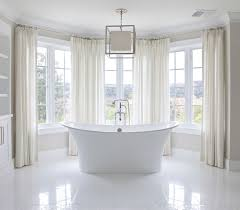 traditional bathroom lighting ideas white free standin. Bay Windows Bathroom Traditional Lighting Ideas White Free Standin N