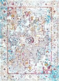 antique medallion multi area rug 5 ivory and blue abstract p