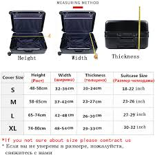 Julys Song Thicken Suitcase Protective Covers For 18 32 Inch Suitcase Case Travel Luggage Bag Trolley Elastic Luggage Cover