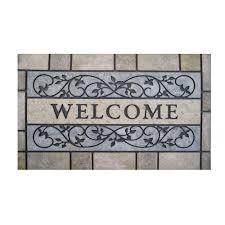 TrafficMASTER Welcome Stone 24 in. x 36 in. Door Mat-60-730-0496 ...