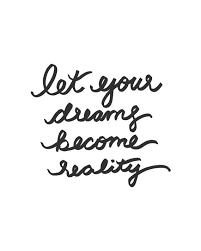 Dreams Become Reality Quotes Best Of Let Your Dreams Become Reality Quote Lettering By Studio24shop
