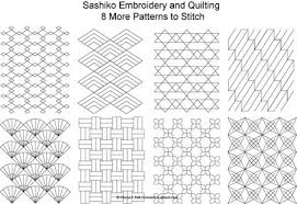 Sashiko Patterns Inspiration Free Sashiko Embroidery Patterns