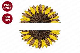 Caluya design | free svg. Split Sunflower Sublimation Designs Graphic By Sinedigitaldesign Creative Fabrica