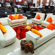 orange living room furniture. Living Room, Sofa 2-1-1 Set,chaise And Bed End \u2013 OT-001 Orange Room Furniture