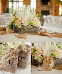 Interesting Wedding Decorations With Burlap 28 For Your Wedding Table  Centerpiece Ideas with Wedding Decorations With Burlap