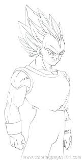 Dragon Ball Z Vegeta Coloring Pages Super Drawings Stockware