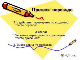 Презентация на тему Реферат на тему Перевод и его схема  4 Процесс перевода