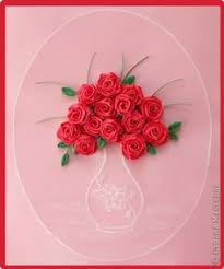 Paper Quilling Rose Flower Basket 54 Best Quilled Roses Images Paper Flowers Quilled Roses Paper Art