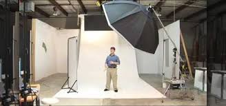 how to set up a big white infinity sweep for photo studio