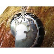 medium size 925 silver black nautilus shell vine design pendant sp 992 jpg