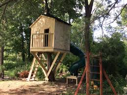 Decorating Simple Backyard Tree Houses Simple Treehouse Plans For