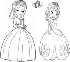 Coloriage A Imprimer Princesse Sofia Et Ambre Gratuit Et Colorier