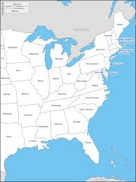 east coast of the united states free map free blank map free