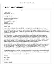 Sample Resume And Cover Letter Example Business Cover Letter Sample ...