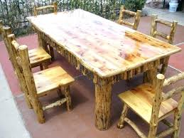 medium size of mesmerizing cedar log bench 7 foot dining table top with 6 chairs sold