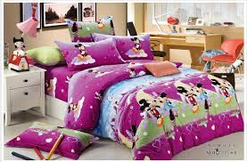 mickey and minnie mouse bedspread purple brushed cotton mickey and minnie mouse bedding sets kids