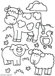 Barnyard Animals Coloring Pages Animal Farm Coloring Pages Preschool