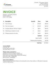 standard invoice templates example invoice word 19 blank invoice templates microsoft word