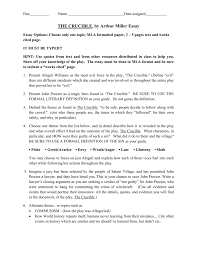 3 5 Essay Format The Crucible Essays Doc