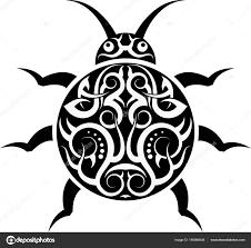 татуировка божья коровка векторное изображение Ajayshrivastava