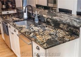 black fusion granite kitchen countertop