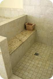 showers granite shower seat project new bench with top home remodel floating how to build a floating shower seat support home design bench how