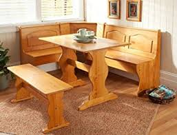 breakfast furniture. essential home emily breakfast nook kitchen solid wood corner dining set table bench chair furniture u