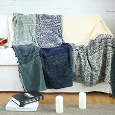 architecture bohemian blanket sofa cover jacquard knit throw geometric pattern for chenille throws sofas design 15