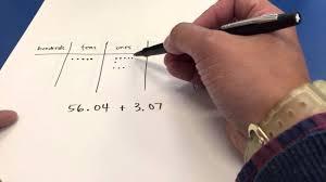 Add Decimals Place Value Chart A
