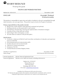 Youth Care Worker Sample Resume Advertising Coordinator Cover Letter