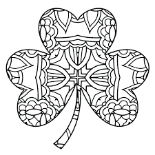 Shamrock Coloring Page Shamrock Coloring Sheets Astounding 4 Leaf Clover Page Pages New