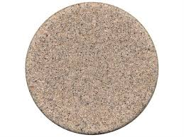 tropitone stoneworks faux granite stone 48 round solid table top with umbrella hole