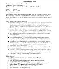 Executive Assistant Job Description Interesting Human Resources Assistant Job Description 44Free Word PDF