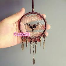 Dream Catcher For Car Mirror Cool BOHO Dream Catcher With Deer Hanging Car Mirror Charm Ornaments