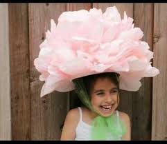 Paper Flower Hats Flower Hat Made With Tissue Paper Easter Hat Parade Paper