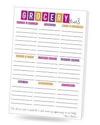 Grocer List Grocer List 2 Pack Grocery List