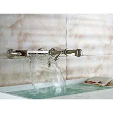 wall mount bathtub faucet with hand shower waterfall roman tub