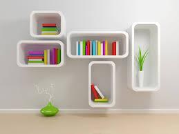 unique bookshelf designs in white interior decoration modern home fancy minimalist wall decor colorful books bright bright office room interior