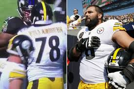 Steelers\u0027 anthem hero flagged for head butt after team stands ...