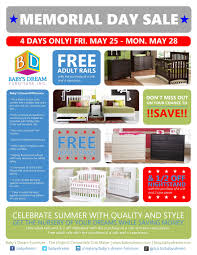 Baby s Dream Furniture Memorial Day Promotion