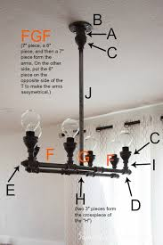 diy steel pipe chandelier diy chandelier diagram