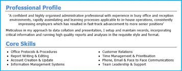 Cv Personal Profile Examples Profile Example For Resume Www Sailafrica Org